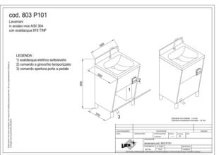 washbasin with knee operated control-803P101