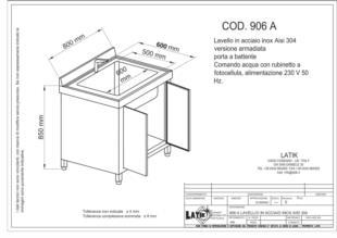 lavello-lavabo-lavandino-acciaio-inox-comando-fotocellula-portabattente-armadiata-906A
