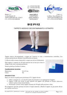 scheda 912 F112 -tappeto-adesivo-decontaminante