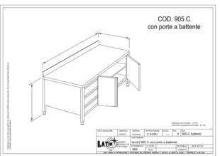tavolo-acciaio-inox-con-porte-battente-905C