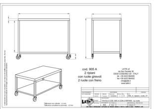 tavolo-acciaio-inox-con-ruote-due-ripiani-905A