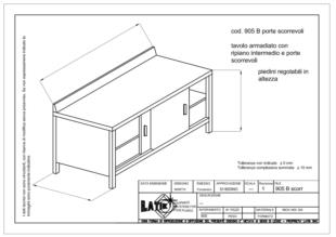 tavolo-acciaio-inox-con-spondina-porte-scorrevoli-905B