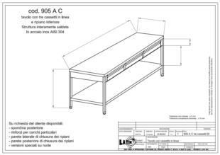 tavolo-acciaio-inox-tre-cassetti-con-ripiano-905AC